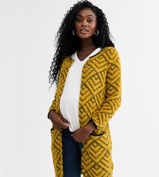 Mama Licious Mama.Licious Mamalicious patterned longline cardigan-Multi