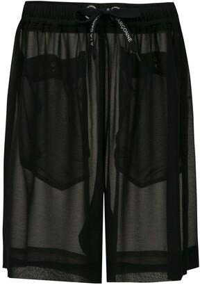À La Garçonne chiffon shorts