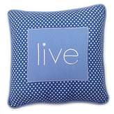 One Grace Place Simplicity Blue Decorative Pillow Live, Blue, Light Blue, White by