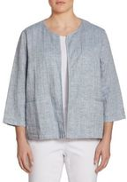 Eileen Fisher, Plus Size Quilted Gauze Jacket