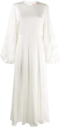 Roksanda puffed sleeve Georgette dress