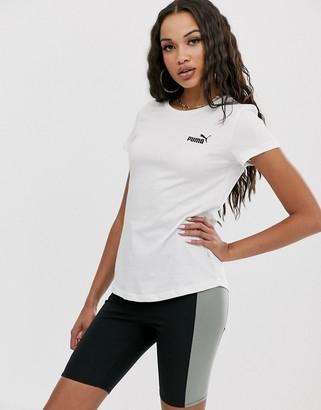 Puma Essentials white small logo t-shirt