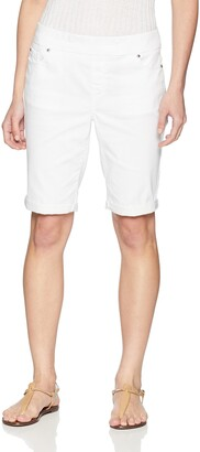 Slim Sation SLIM-SATION Women's Petite Pull on Roll Cuff Jean Walking Short
