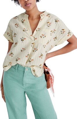 Madewell Marseille Daisies Bower Popover Shirt
