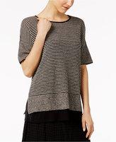 Eileen Fisher Organic Linen Striped Sweater