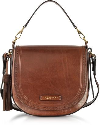 The Bridge Peraldistrict Large Leather Messenger Bag w/Tassels