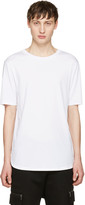Helmut Lang White Brushed Jersey T-shirt