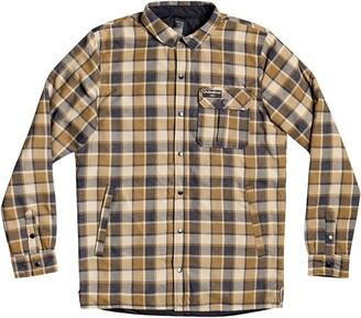 Quiksilver Men's Wildcard Water Repellent Plaid Flannel Shirt Jacket