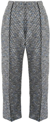 Coohem tweed cropped trousers