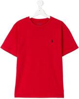 Ralph Lauren embroidered logo T-shirt - kids - Cotton - 16 yrs