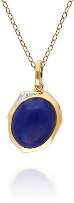 Gemondo Irregular Lapis Lazuli & Diamond Pendant