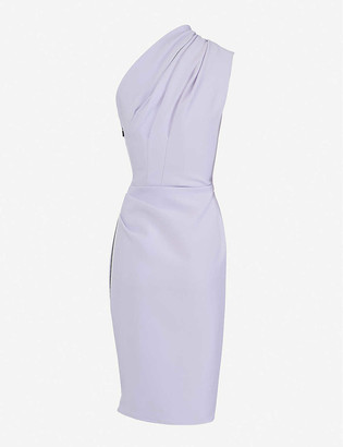 Maticevski Effusive sleeveless one-shoulder stretch-crepe midi dress