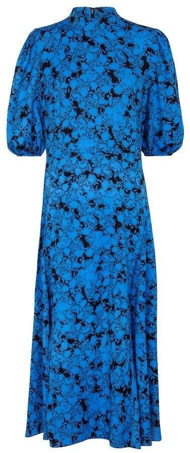 Diane von Furstenberg Nella floral crepe midi dress