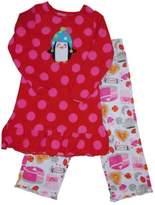 Carter's Girls Carter Red Penguin Polka Dot Pajamas Sweets & Hot Chocolate Sleep Set 7