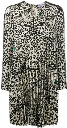 RED Valentino Leo Panther-print pleated dress