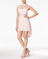 B. Darlin Juniors' Lace High-Low Dress