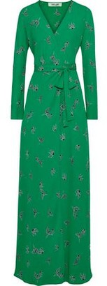 Diane von Furstenberg Peggy Printed Crepe De Chine Maxi Wrap Dress