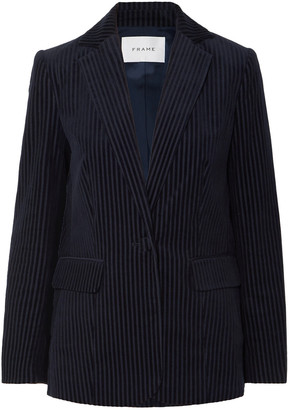 Frame Striped Stretch-cotton Corduroy Blazer
