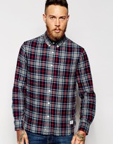 Penfield Shirt With Brushed Cotton Check - Blue