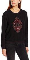 Les Petites Women's Plain or unicolor Long sleeve Sweatshirt Black Black