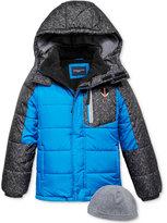London Fog 2-Pc. Hat & Hooded Puffer Jacket Set, Little Boys (2-7)