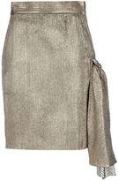 Versace Gianni Vintage Silk mix metallic skirt.