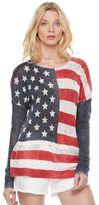 Rock & Republic Women's Flag Scoopneck Sweater