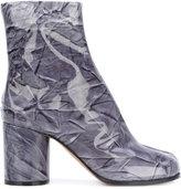 Maison Margiela Tabi Plasticate boots - women - Cotton/Leather/Plastic - 36