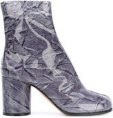 Maison Margiela Tabi Plasticate boots - women - Cotton/Leather/Plastic - 38