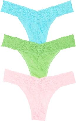 Hanky Panky 3-Pack Original Rise Lace Thongs