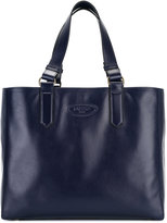 Lanvin logo embossed tote - women - Cotton/Calf Leather - One Size