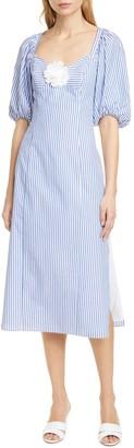 STAUD O'Keefe Cotton Midi Dress
