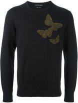 Alexander McQueen beaded butterfly sweatshirt