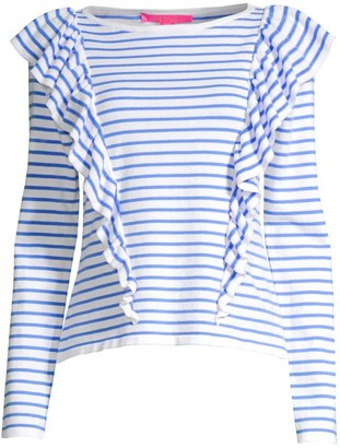 Lilly Pulitzer Ruth Striped Ruffle Sweater