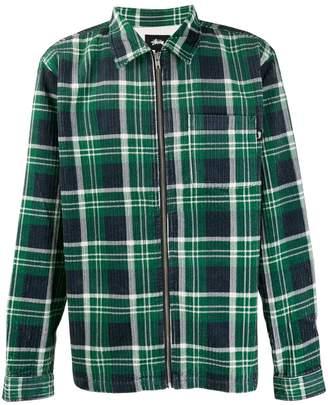 Stussy plaid shirt jacket
