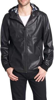 Levi's Perforated Faux Leather Hoody Jacket