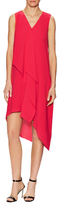 Adrianna Papell Sleeveless Asymmetrical Shift Dress