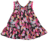 Fox & Finch ALOHA BLACK PALM DRESS (3M - 24M)
