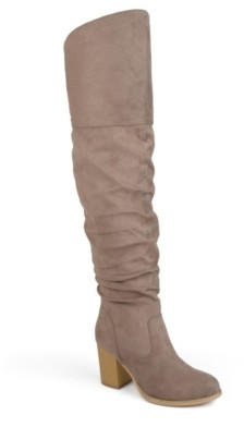 Journee Collection Kaison Wide Calf Thigh High Boot
