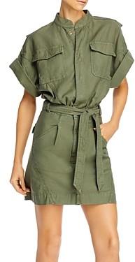 Frame Twisted Utility Shirt Dress