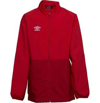 Umbro Junior Boys Training Shower Jacket Vermillion/Jester Red