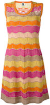 M Missoni wavy panel dress - women - Cotton/Polyamide/Polyester/Metallic Fibre - 40