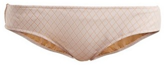 Made by Dawn Arrow Diamond-jacquard Bikini Briefs - Womens - Light Pink