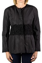 Moncler Pensa Gamme Rouge Floral Embroidered Padded Jacket Black Women's.