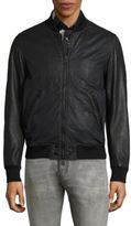 Diesel Powell Leather Bomber Jacket