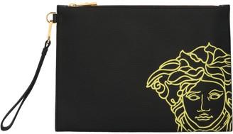 Versace Medusa Print Clutch Bag