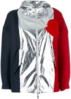 Moncler Gamme Rouge tri colour jacket - women - Polyamide/Silk/Cotton/Viscose - 00