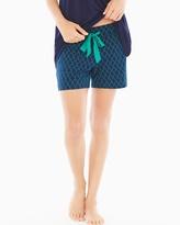 Soma Intimates Pajama Shorts Pleasant Scroll Navy