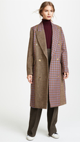 Golden Goose Deluxe Brand Nina Check Coat