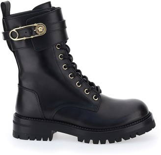Versace Ankle Lock Lace-up Boots